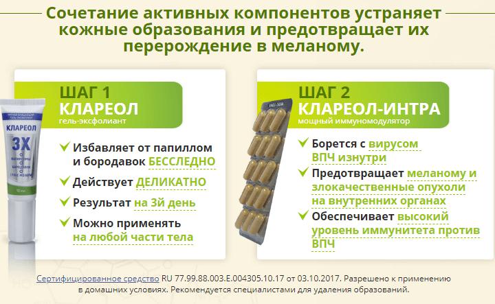 Препарат Клареол от папиллом и бородавок